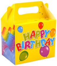 Feliz Cumpleaños Fiesta Cajas De Almuerzo Comida Bolsas Botín De Regalo para Niños Niños Cartón