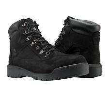 Timberland 6-Inch Waterproof Field Boot Black Nubuck Men's Boots A17KC