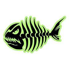Fish Skeleton Scary Tribal Neon Car Vinyl Sticker - SELECT SIZE
