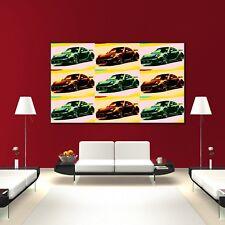 LEINWAND BILD ER XXL POP ART PORSCHE 911 TURBO GT ANDY  WARHOL POSTER 150x90