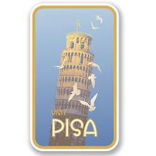 2 x Pisa Italy Vinyl Sticker iPad Laptop Car Travel Luggage Tag Fun Gift #4616