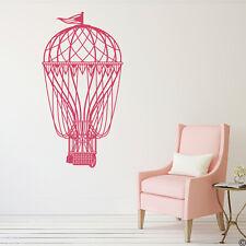 Hot Air Balloon Vinyl Wall Decal - fits nursery, bedroom, living room +more K733