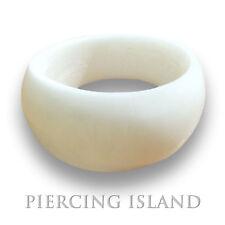 Design Ring Weiss Goa Bone Knochen Natur Organic Schmuck AR035