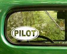 2 PILOT DECALs Oval Sticker For Car Window Truck 4x4 Laptop Rv Jeep Bumper Boat