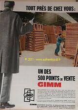 Publicite Originale de 1967 GIMM MENUISERIE FENETRES POINT DE VENTE PUB AD
