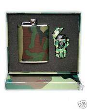 Nibo Camouflage Lighter & Drinking Flask Gift Set NIB