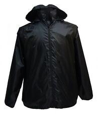 Leichte Regenjacke in großen Größen bis 12XL, schwarz