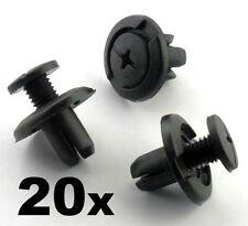 20x 8mm Screw Fit Honda Wheel Arch Lining / Splashguard & Bumper Clips Scrivets