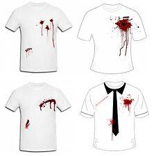 Nouveau Hommes Imprimé sanglante gun SHOT slash blessures Halloween Déguisements t shirts