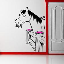 Horse By RECINZIONE Adesivo Decalcomania FATTORIA CONTADINO Kids Nursery ANIMALI ART K36