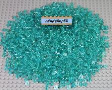 LEGO - 1x1 Round Plates Translucent Light Blue Trans Bricks Dots Small Bulk Lot