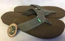 SANUK Flip Flops OG SQUOOSH Olive Men's Flip Flop Thong Sandal Shoes Comfort