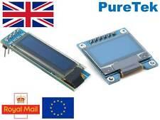 "0.96"" 128X64 y 0.91"" 128X32 pantalla OLED Azul Blanco Amarillo-Arduino RPI ESP8266"