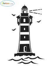 Leuchtturm Aufkleber 28x19cm für Badezimmer Auto Caravan Wohnmobil Tattoo  220/2