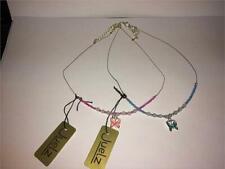 """Chicas rosa, púrpura o azul Cable de Mariposa Collar 16"""""""