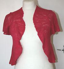 Per Una UK10 UK12 EU38 EU40 new fuchsia cap-sleeved light knit shrug cardigan