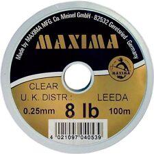 Maxima Clear 50m Line Monofilament All Sizes Full Range Coarse Match Fishing