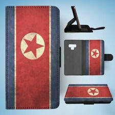 SAMSUNG GALAXY NOTE 9 FLIP CASE WALLET COVER KOREA NORTH COUNTRY FLAG