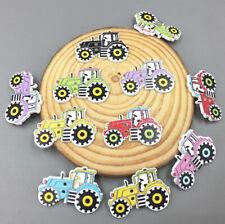 Holz Nähen Knopf / Knöpfe Auto Scrapbooking Wooden Buttons 30mm