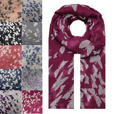 NEW Animal Butterfly Print Fashion Scarf Wrap Chiffon Stole Soft Large  Light UK 540fa1506fa