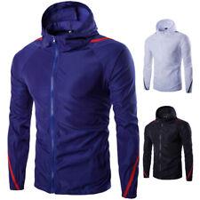 New Men's Hooded Jacket Baseball Clothes Thin Summer Sunscreen Coat Slim Fit