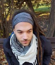 Mens Headband Dreadlock Accessories Head Scarf Dreadlock Tube Gray Hairband Men