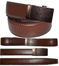 "Men's Belt. Real Leather Automatic lock Dress & Casual belt. Fashion belt up 43"""