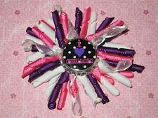 "NEW ""I LOVE CHEERLEADING"" Girls Korker Ribbon Cheer Hairbow Bow Clip Clippie"