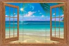 Ceramic Tile Mural Backsplash Miller Tropical Seascape Window Art DMA2037