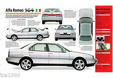 ALFA ROMEO 164 SPEC SHEET / Brochure / Prospekt: 1994,1995,1996,