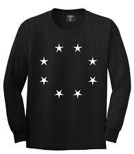 Kings Of NY Circle of Stars Street Graphic Tee Long Sleeve T-Shirt Black White