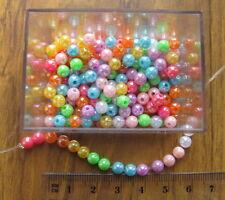 250 Opaco Liso Redondo Plástico Acrílico AB Beads De 5mm elige El Color
