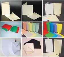 41 choix de vide cartes et Enveloppes blanc ivoire noir pastel & couleurs vives