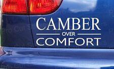 CAMBER over COMFORT Low Car Stickers Decals Window Bumper Scene DUB EURO JDM VW