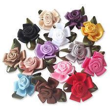 10pcs Ribbon Flower Rose Bud Decoration Embellishments, Sewing Card Scrapbooking