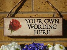 GIARDINO personalizzata Segno propria formulazione rose tulipani Daffodils proprio nome camera sign