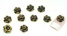 "NEW"" DIY 3D Nail Art Decoration  Metal Alloy Flower Rhinestone Gems Manicur UK#1"
