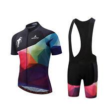 Men's Bike Clothing Set Cycling Jersey and Gel Padded (Bib) Shorts Kit S-5XL