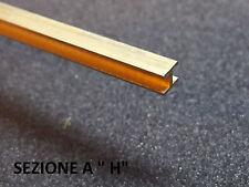 LISTELLO IN OTTONE BORDURA SAGOMABILE 50cm PROFILATI X MODELLISMO SEZIONE A H