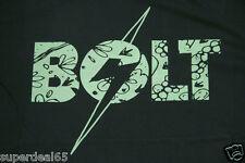 Lightning Bolt T Shirt Floral Bolt T Moonless Night 100% Cotton Retro