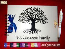 Personalizado Familia árbol de la vida nombre Regalo Libro Notas Recuerdos A5 fotos Journal