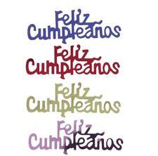 Confetti Word Feliz Cumpleanos MultiColor Mix - $1.81 per 1/2 oz. FREE SHIP