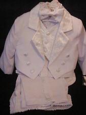 White Baby Tuxedo Christening Baptism with Design - 2T