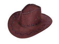 Sombrero De Vaquero Sombrero velourlederoptik talla única marrón,beige o negro