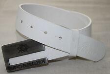 CIPO & BAXX Gürtel 100% echt Rind Leder Herren Schnalle Jeans CG130 weiß neu top