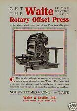 ROTARY OFFSET PRESS  ILLUSTRATION.1914