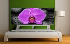 Sticker tête de lit décoration murale Orchidée réf 3637 (5 dimensions)