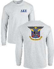 Delta Kappa Epsilon Fraternity Crest Long Sleeve Shirt DKE - NEW