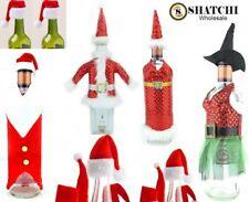 b0947d8e492af Christmas Santa Hat Wine Bottle Cover Topper Bags Xmas Dinner Party Table  Decor
