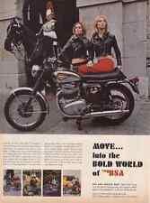 1968 BSA THUNDERBOLT 654cc MOTORCYCLE  ~  NICE ORIGINAL PRINT AD